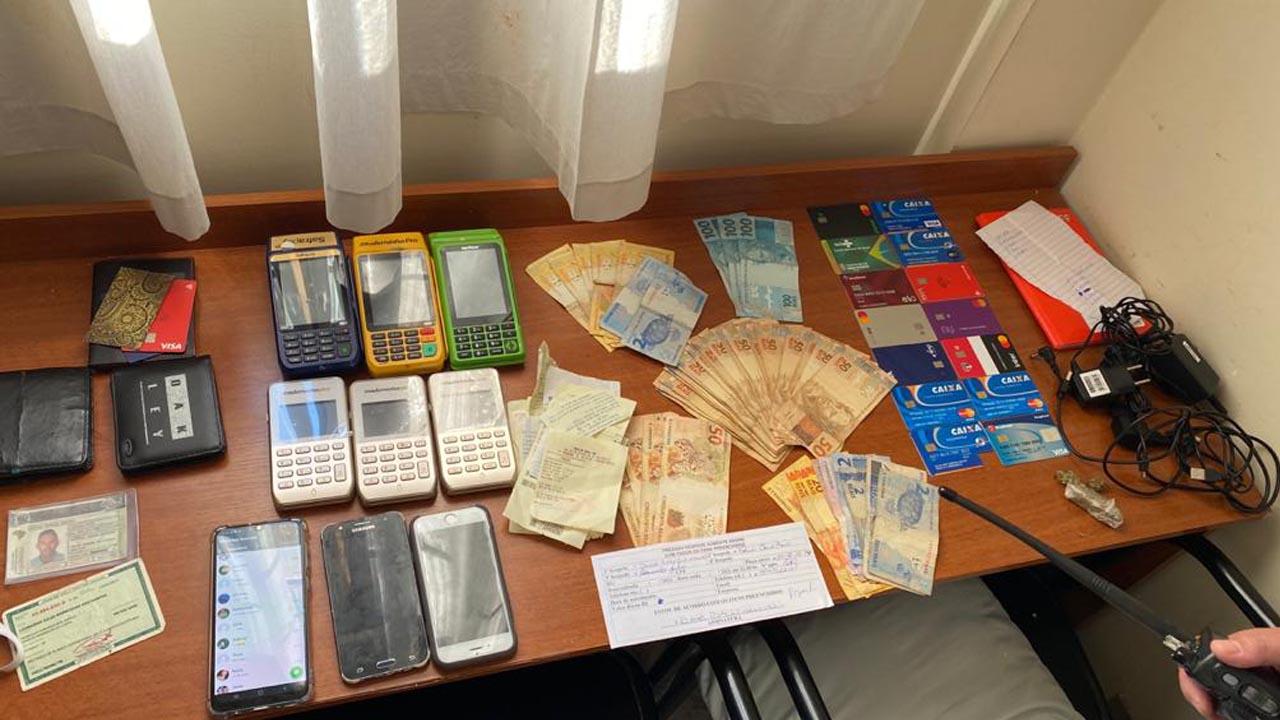 Quadrilha foi presa após lucrar mais de R$ 500 mil com o golpe do cartão