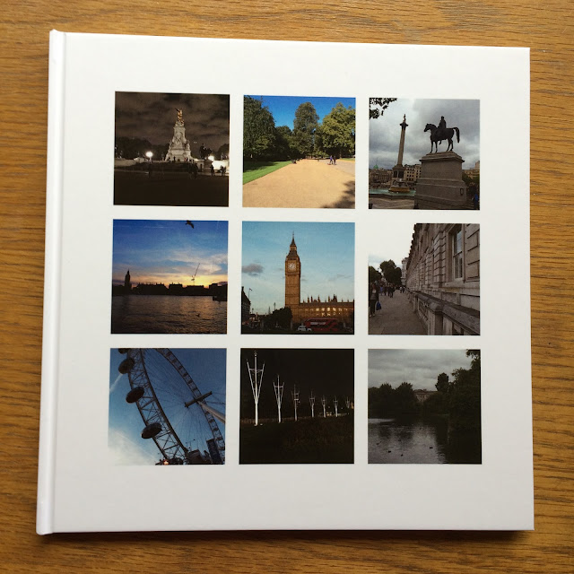 a photo book from london printed using lalalab