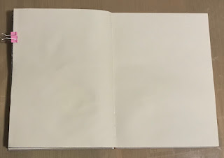 image of a blank art journal spread of pages