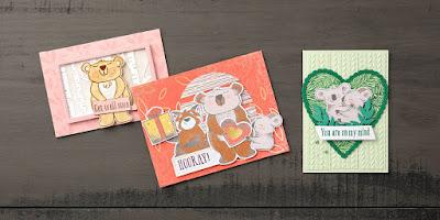 December 2020 Beary Comforting Paper Pumpkin Alternative Projects #stampinup #paperpumpkin