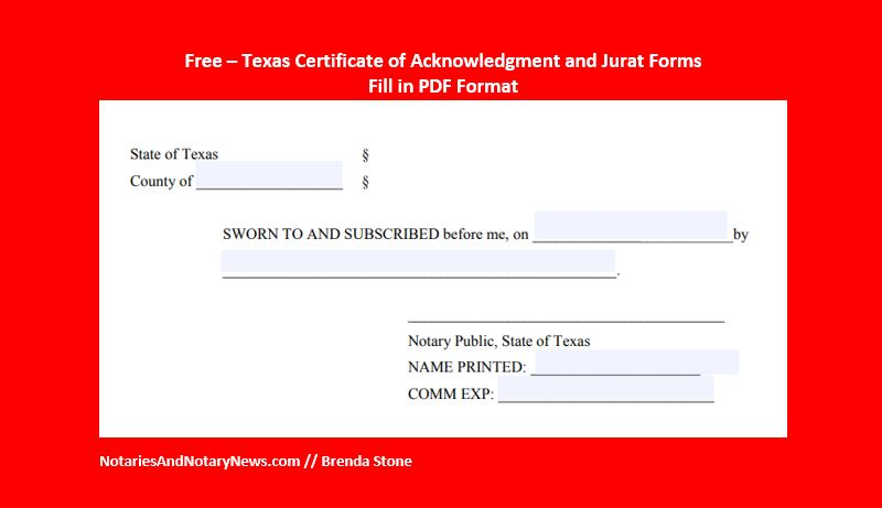 Notaries and notary news free texas notary certificates for free texas notary certificates for recordable documents yelopaper Images