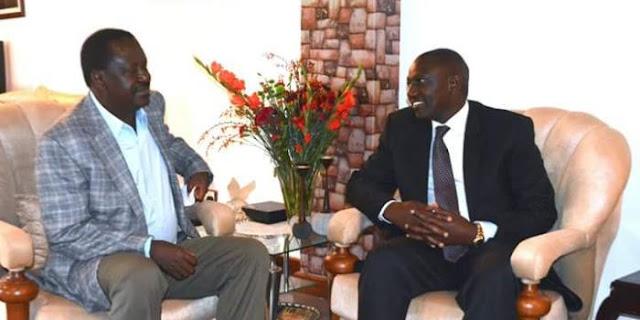 Ruto hosts Raila in Karen home photo today