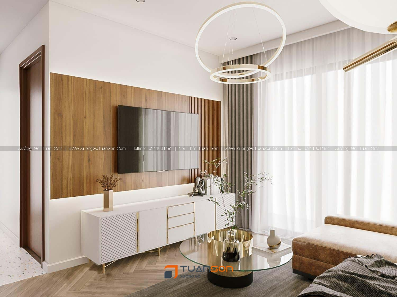 Thiết kế nội thất căn số 06 (67,8m2) 2PN Phương Đông Green Park