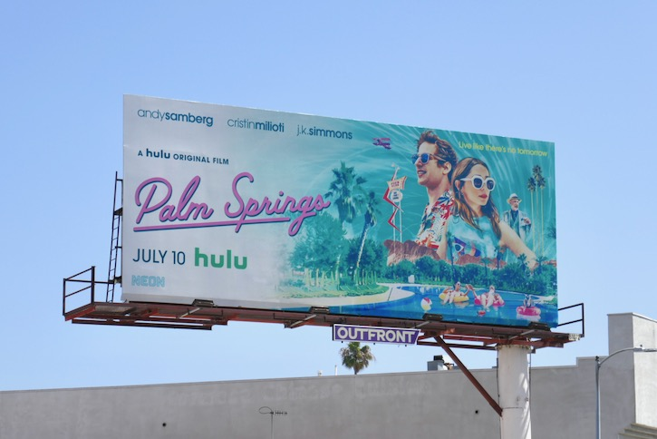 Palm Springs Hulu film billboard