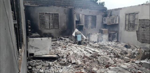 Incêndio deixa casa completamente destruída em Cristal do Sul