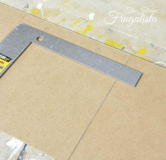 DIY Jumbo Scrabble Tile Fall Banner Marking Left Hole