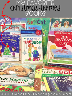 How I use Christmas books in speech therapy