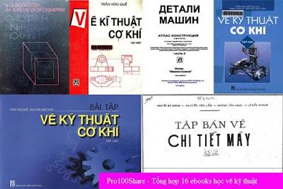 Tổng hợp 15 tài liệu học vẽ kỹ thuật và hình học họa hình bằng tiếng Việt