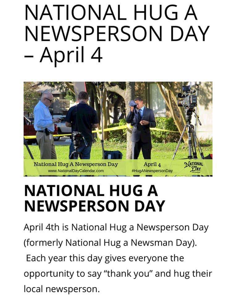 National Hug a Newsperson Day Wishes Photos