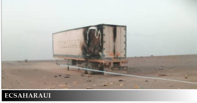 🔴 ورد الآن |  جيش الإحتلال المغربي يقصف مجددا شاحنة تجارية على الحدود الثلاثية بين الجمهورية الصحراوية والجزائر وموريتانيا.
