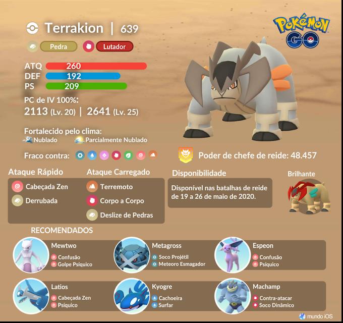 Confira o guia de batalha de reide para enfrentar Terrakion em Pokémon GO