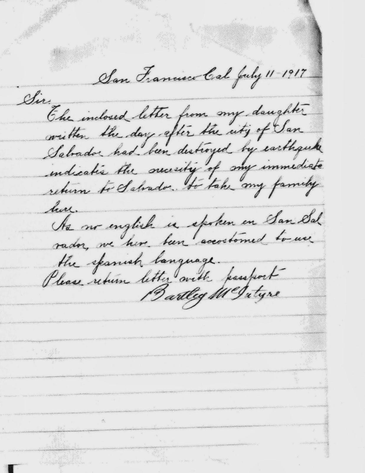 Mcintyre Stevens Genealogy October