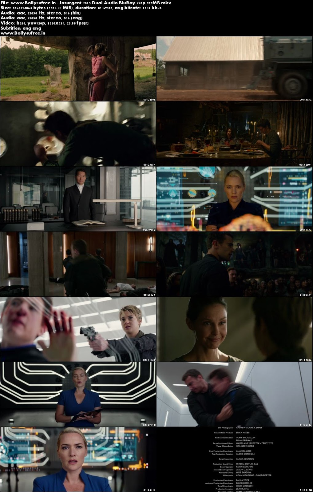 Insurgent 2015 Hindi Dual Audio BluRay 300mb 480p