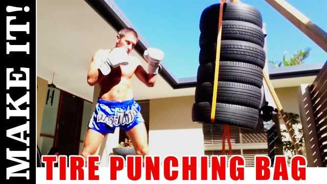 DIY Tire Punching Bag