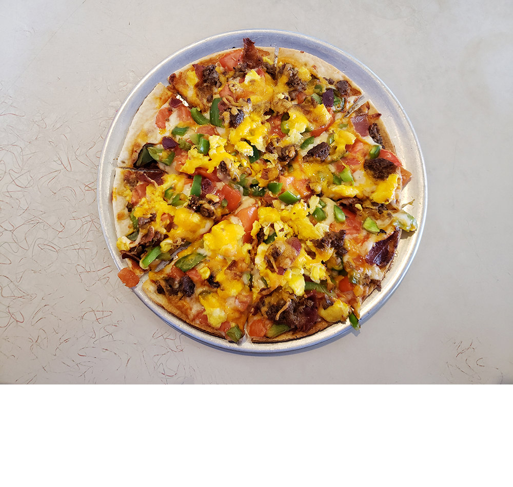 The Breakfast Pizza from The Arcade Restaurant in Memphis, TN
