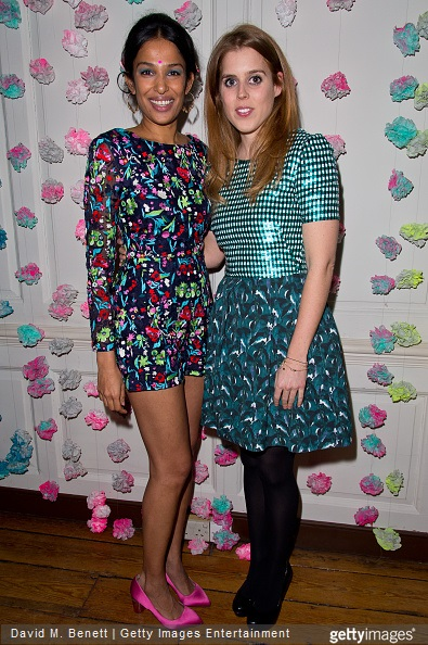Saloni Lodha and Princess Beatrice of York attends the Saloni Holi colour cocktail party