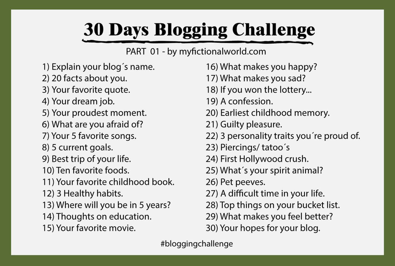 Another 30 Days Blog Challenge In 1 Day