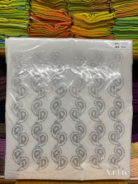 Hotfix sticker dmc tudung bawal fabrik bentuk bujur eye drops