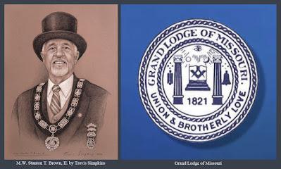 M.W. Stanton T. Brown, II. Past Grand Master. Grand Lodge of Missouri. by Travis Simpkins