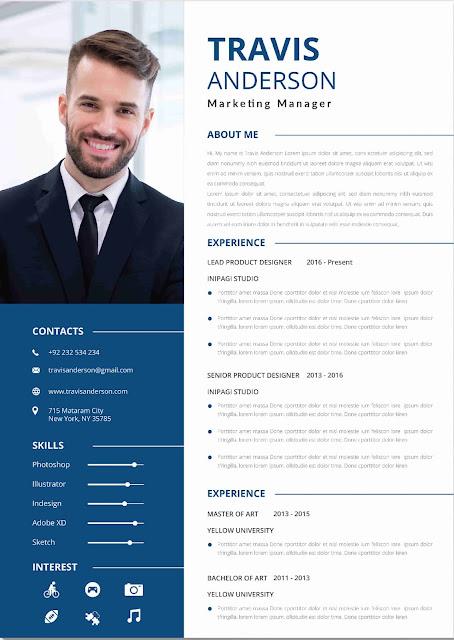 Contoh Desain CV Menarik dan Format PDF Tahun 2020