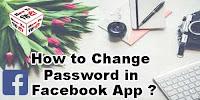 How to Change Password in Facebook App?