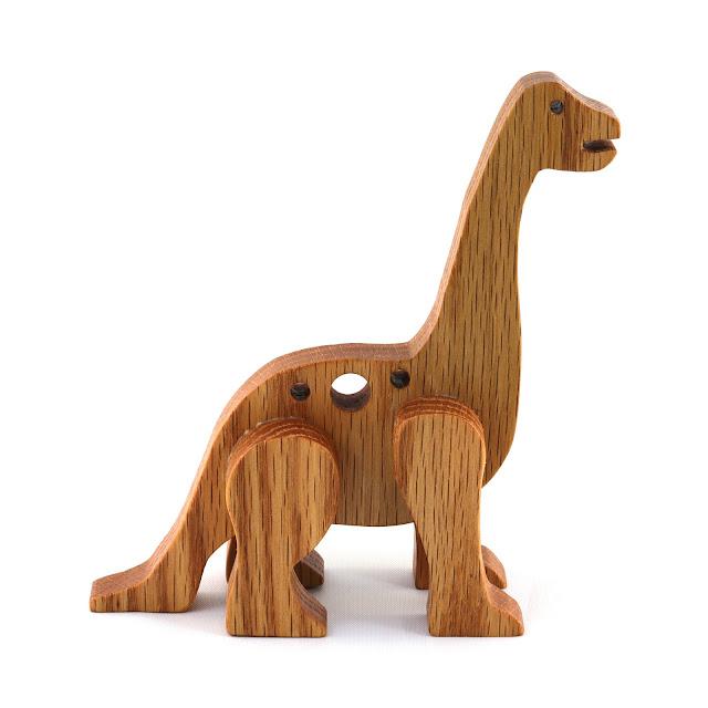 Handmade Wood Dinosaur Toy, Brontosaurus, Apatosaurus, Sauropod - Made to Order - Wood Toy Animal