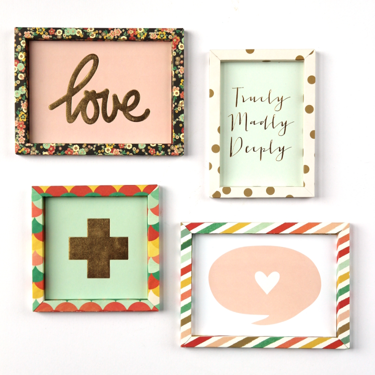 Learn how to make your own custom diy 3D shadow box paper frames scrapbook paper.