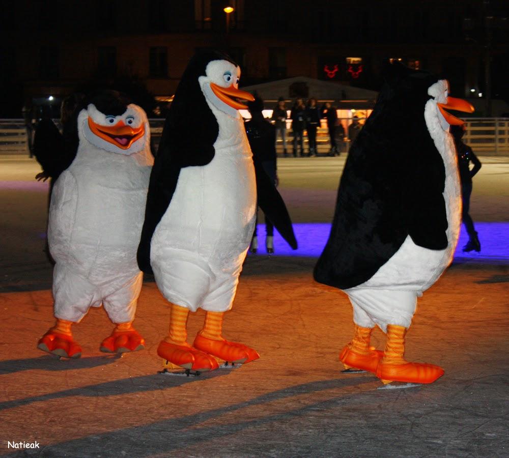 Les pingouins de madagascar grande patinoire 2014 Hôtel de ville de Paris