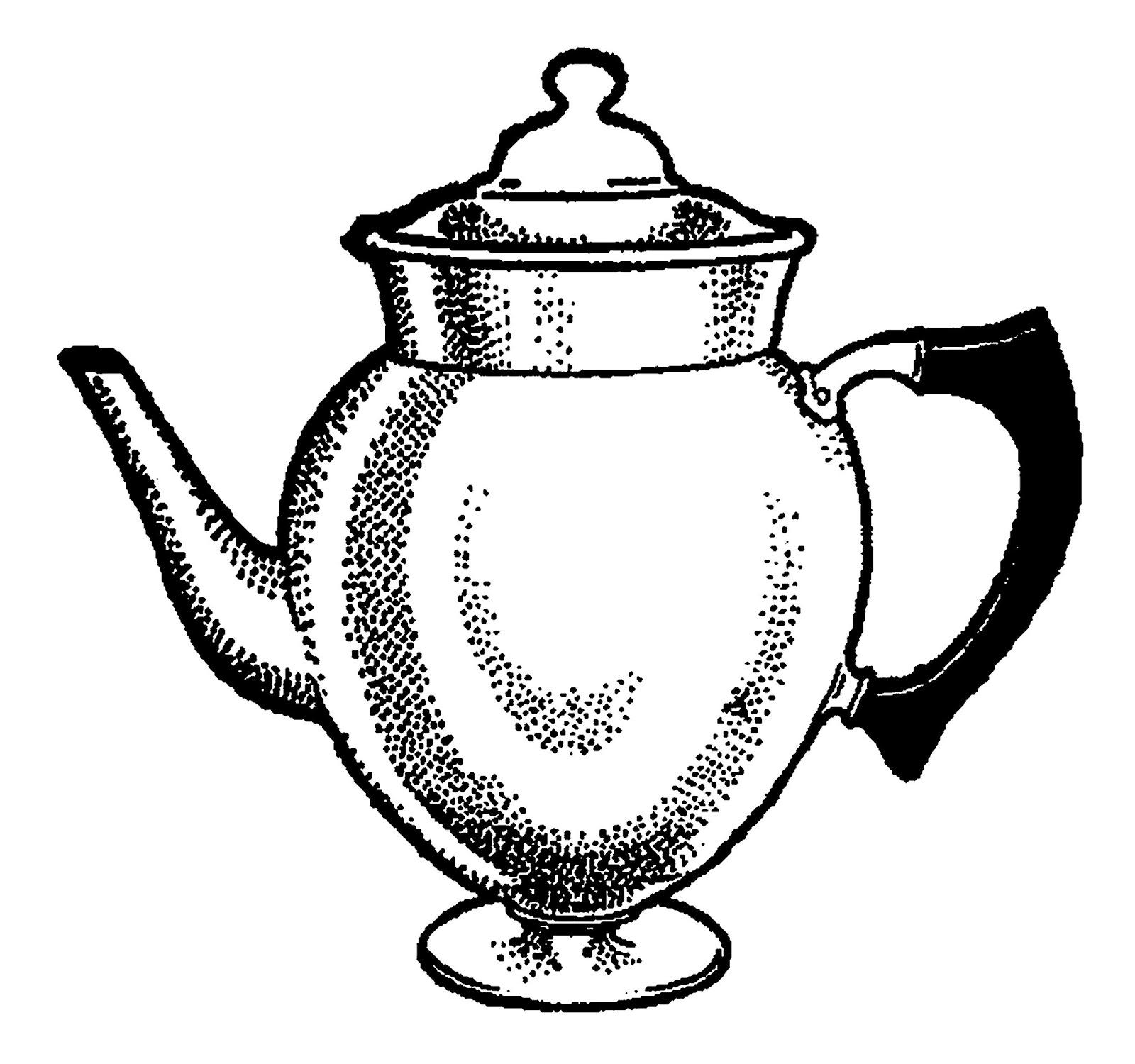 Digital Stamp Design: Vintage Coffee Pot Digital ...