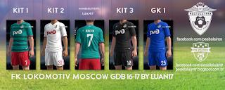 FK Lokomotiv Moscow Adidas kit 2016-17 Pes 2013