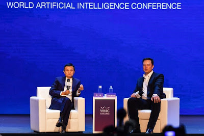 conference held about AI between elon musk and jack ma