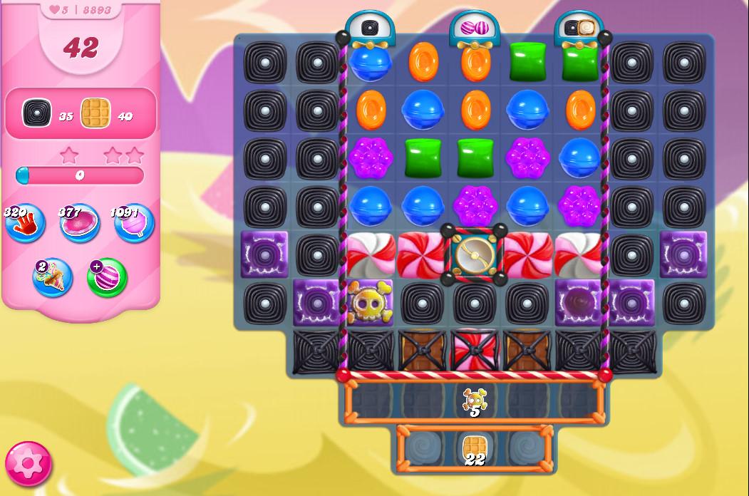 Candy Crush Saga level 8893
