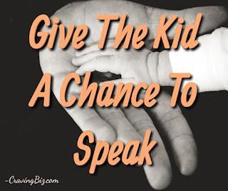 Achance to speak motivational quote
