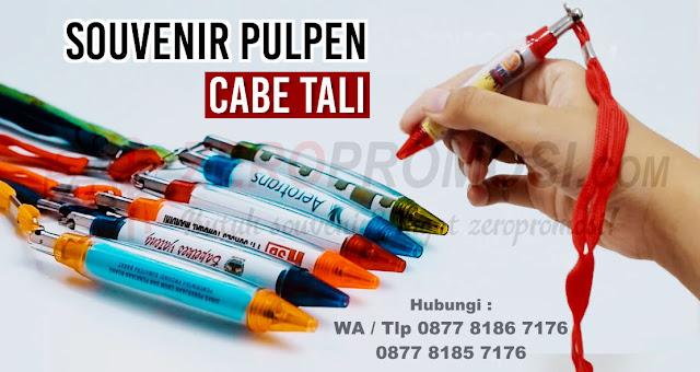 Pulpen mode Cabe pakai tali, pen cabe tali, pulpen plastik, pen insert stiker, pen promosi