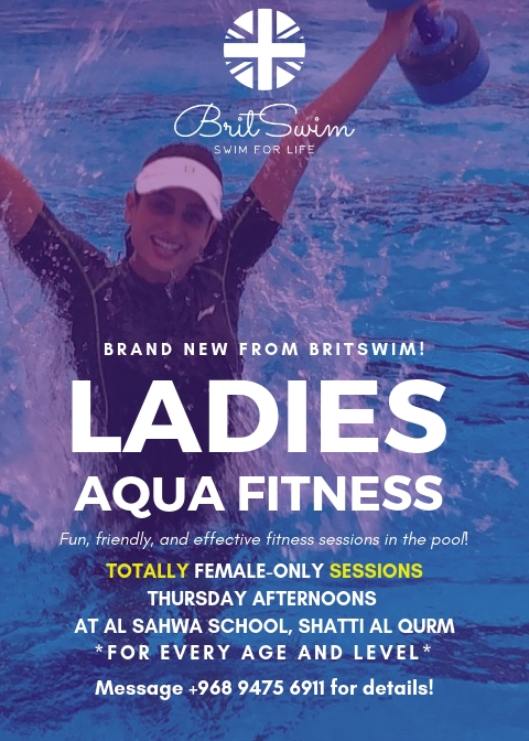 BritSwim aqua fitness swimming lessons ladies only female pool Muscat