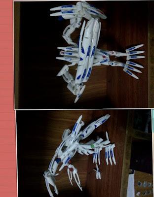 mô hình robot từ vỏ bút bi 1