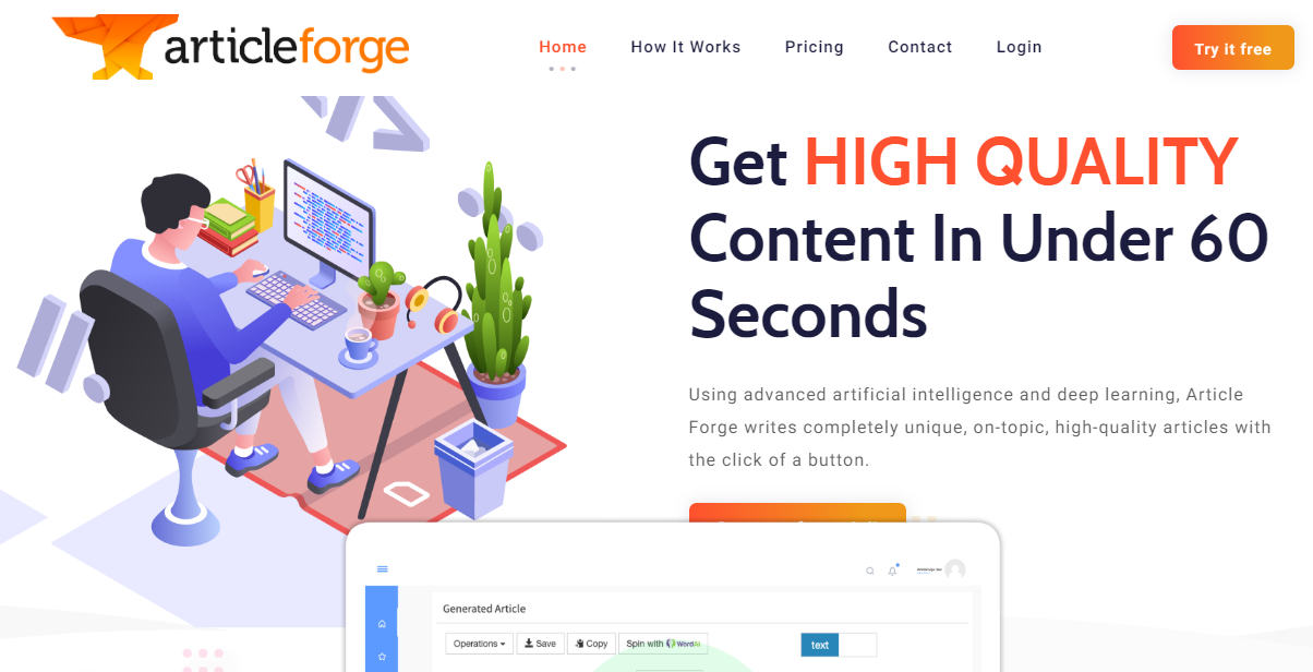 Article Forge: How to Write a High-Quality Article with Article Forge -  Infokik