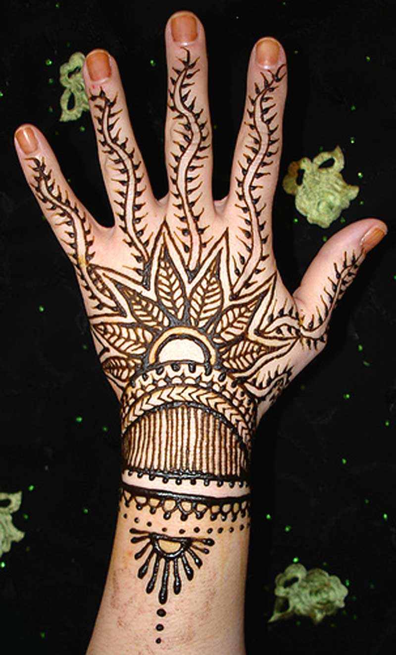 Cool Mehndi Designs On Back Hand