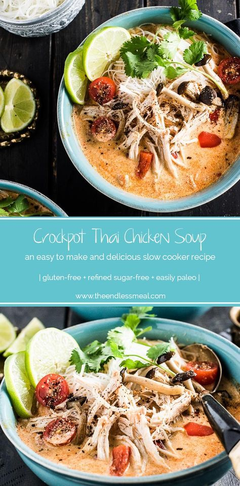 crock pot thai chicken soup