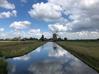 A windmill in Maasland, the Netherlands.