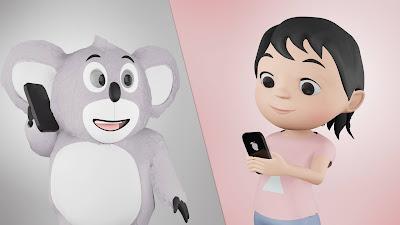 Hoala dan koala animasi lagu anak