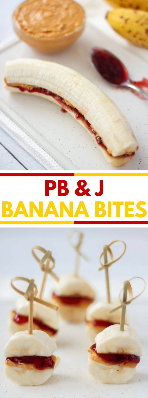 Peanut Butter & Jam Banana Bites #healthydiet #cleaneating