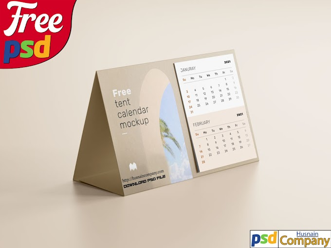 Download Free Calendar PSD Mockup #1