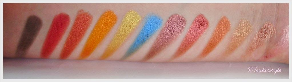 sunset sleek swatches