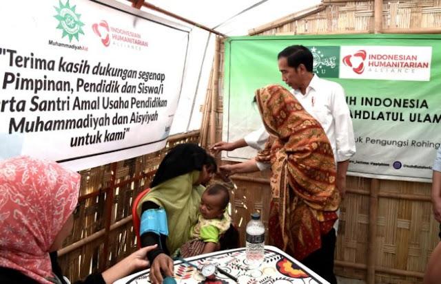 Presiden Jokowi Kunjungi Kamp Pengungsian Rakhine State di Cox's Bazar