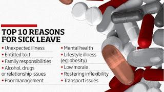 sick leave reason