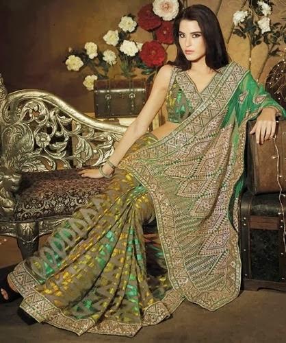 Laxmipati Kalamkari Saree for Collection 2014-2015 fashionwearstyle.com