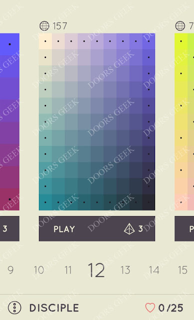 I Love Hue Disciple Level 12 Solution, Cheats, Walkthrough