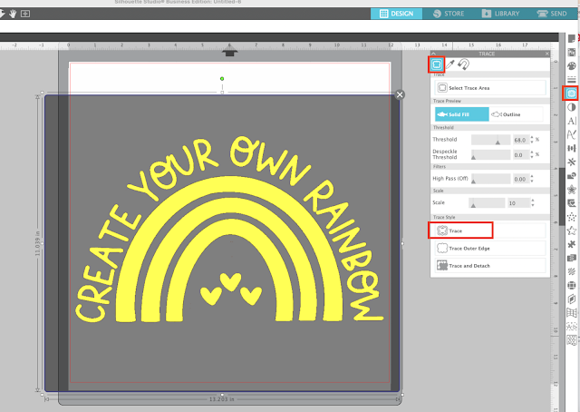silhouette studio, silhouette studio v4, fill color tool, tracing, trace by color