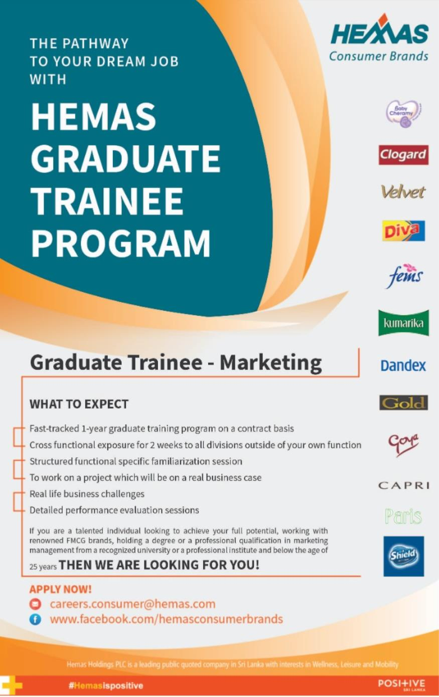 Graduate Trainee Vacancies,Graduate Trainee – Hemas Holdings PLC